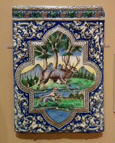 Qajar tile #newyorkcity #newyork #manhattan #metmuseum #latergram #tile #iran #qajar