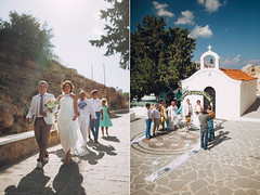 Wedding ceremony at Rhodes Island
