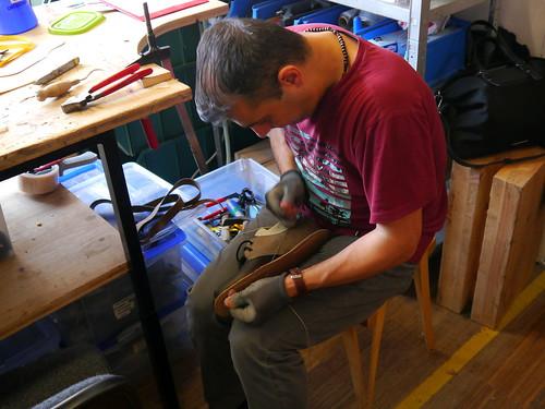 Ein Waldviertler Schuh entsteht / A Waldviertler shoe originates