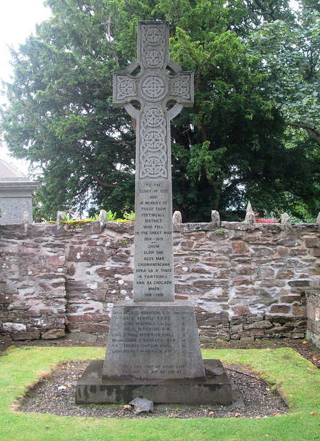 Fortingall War Memorial Inscription
