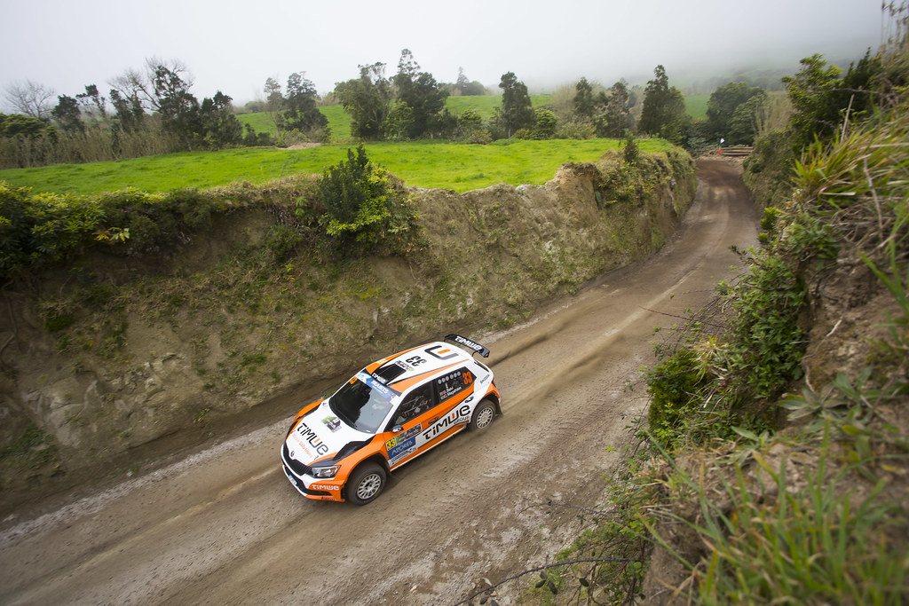33 SALVI DIOGO( prt ), MAGALHAES Carlos (prt), SKODA FABIA R5, action during the 2018 European Rally Championship ERC Azores rally,  from March 22 to 24, at Ponta Delgada Portugal - Photo Gregory Lenormand / DPPI