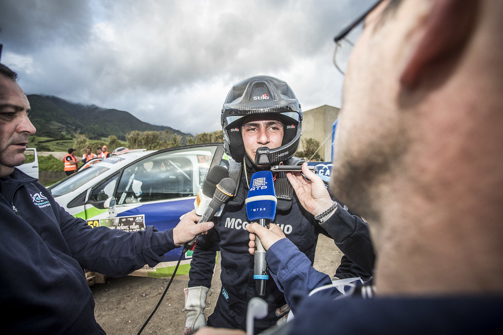52 GAGO Diogo (prt), RAMALHO Miguel, (prt), Peugeot 208 R2, portrait during the 2018 European Rally Championship ERC Azores rally,  from March 22 to 24, at Ponta Delgada Portugal - Photo Gregory Lenormand / DPPI