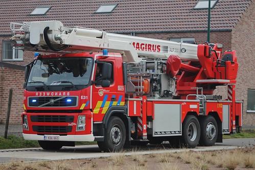 Hoogwerker E31 Brandweer Eeklo | 1-KDA-663