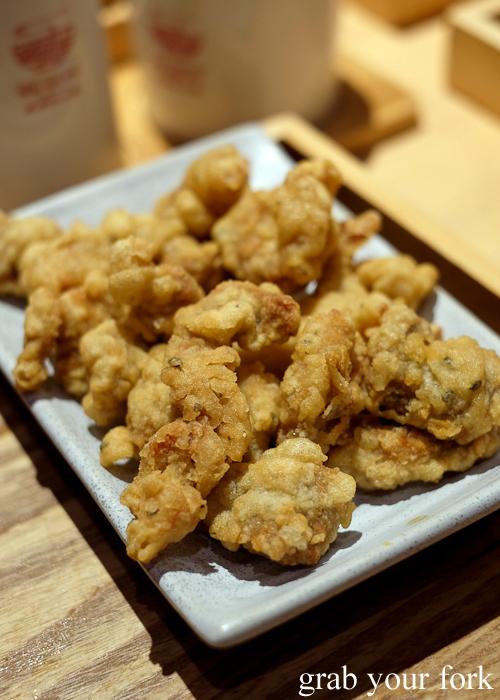 Deep fried crispy pork at Mr Meng Chongqing Gourmet in Market City Chinatown Sydney