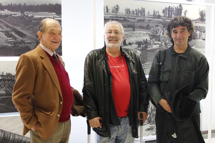 Cecilio y Ängel con el historiador Nicolás Sánchez-Albornoz1