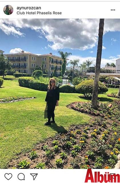 Eczacı Aynur Özcan, Club Hotel Phaselis Rose'deydi.