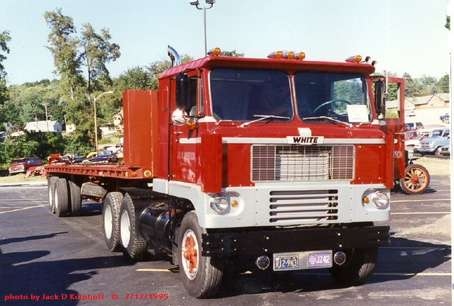 White cabover Greensburg, PA. 7-12-1995