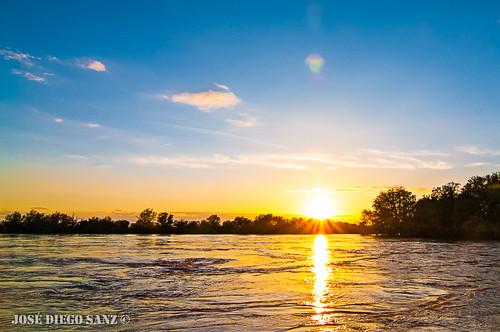Crecida río Ebro (Cabañas)