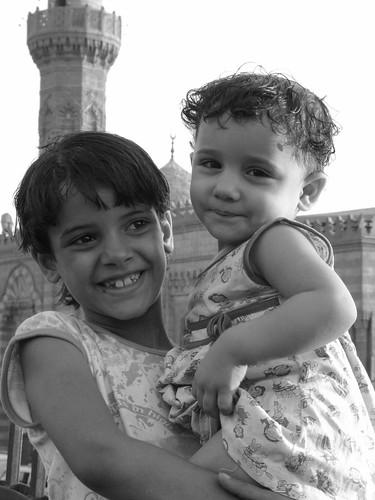 Beautiful Girl - Rahmah - 5 months later with her little niece Lulu