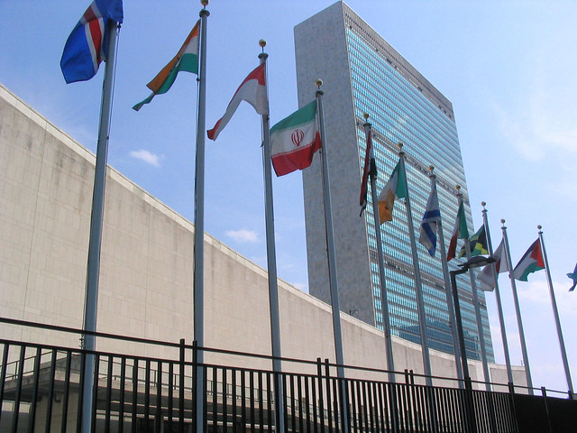 The United Nations building in New York City. Image via flickr: https://www.flickr.com/photos/mononoke/225965762