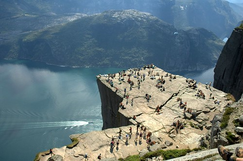 Looking down on Pulpit Rock