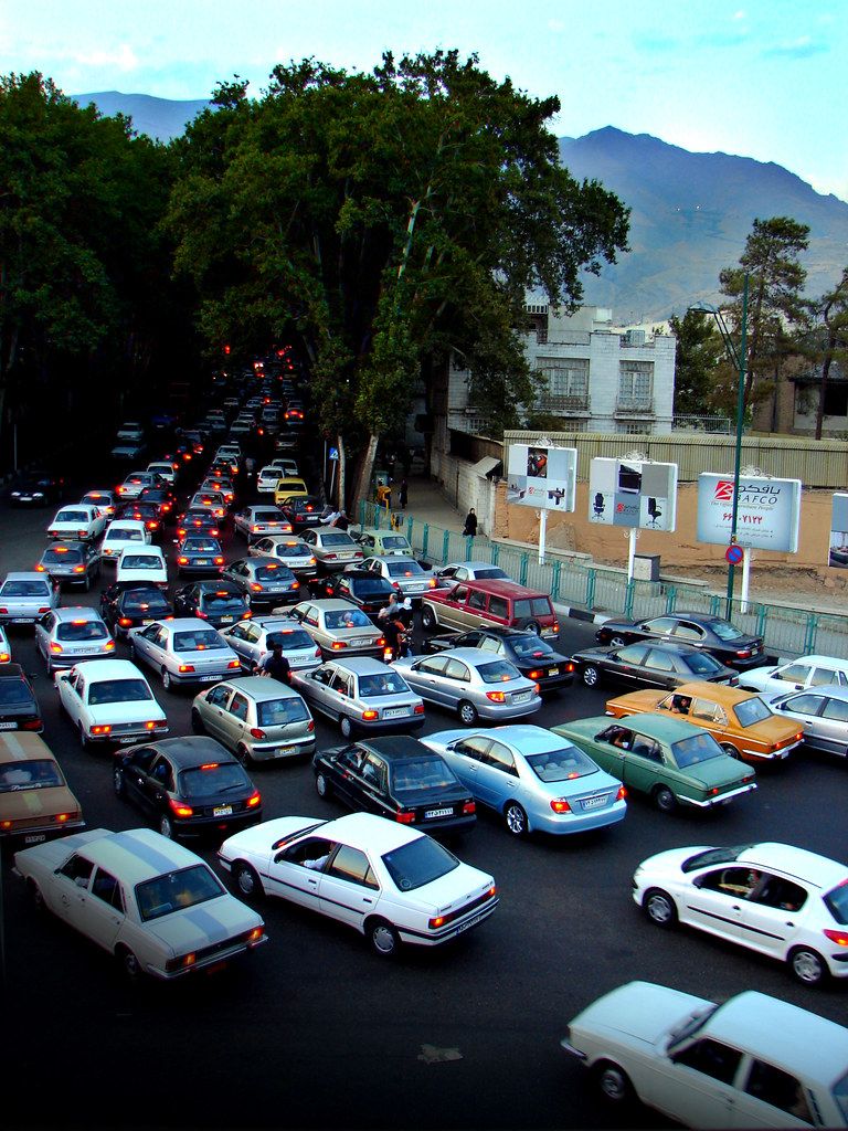 Tehran traffic jam