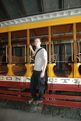 Me test standing the trolley