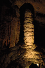 pit cave(0.0), arch(0.0), speleothem(0.0), caving(0.0), stalactite(1.0), cave(1.0), darkness(1.0), stalagmite(1.0),