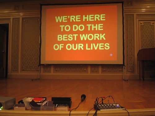 We're here to do the best work of our lives.