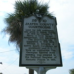 Jasper County Court House Historic Sign
