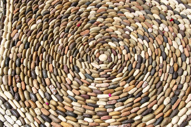 Pebble mosaic, The Parterre, Lotusland