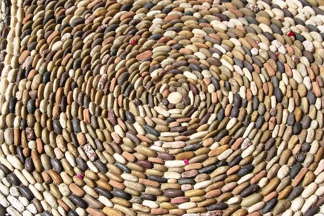 Pebble mosaic, The Parterre, Lotusland