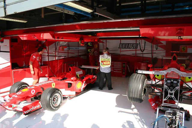ferrari f1 pit garage flickr photo sharing