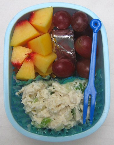 Chicken salad lunch for toddler