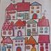 felt/embroidered houses