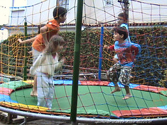 outdoor play equipment, trampolining--equipment and supplies, play, sports, trampoline,