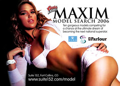 Coors Light Maxim Model Search Flyer