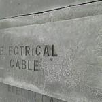 Concrete cable slab