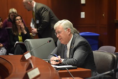 Rep. Storms testifies in favor of SB 421 'An Act Concerning Municipal Budget Reserves...'