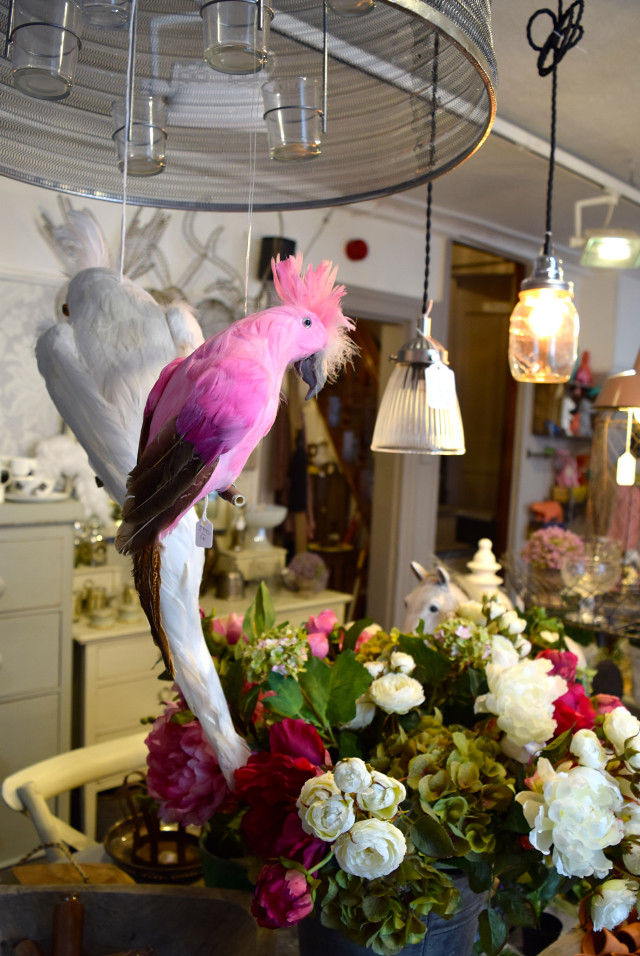 Decorative Birds at Queen Bee Home