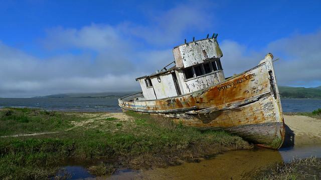 Abandoned Boat, California