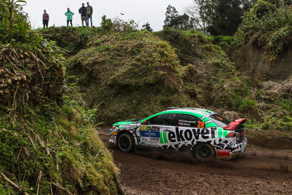 38 REMENIK Sergei (rus), ROZIN Mark (rus), MITSUBISHI LANCER EVO X, action during the 2018 European Rally Championship ERC Azores rally,  from March 22 to 24, at Ponta Delgada Portugal - Photo Jorge Cunha / DPPI