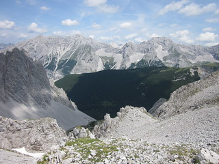 Cime alpina en el entorno de Innsbruck, Austria