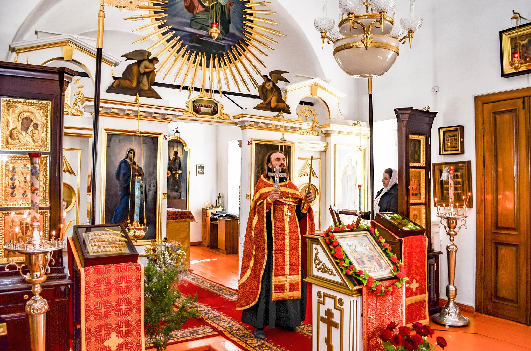 Престольная служба в церкви Марии Египетской