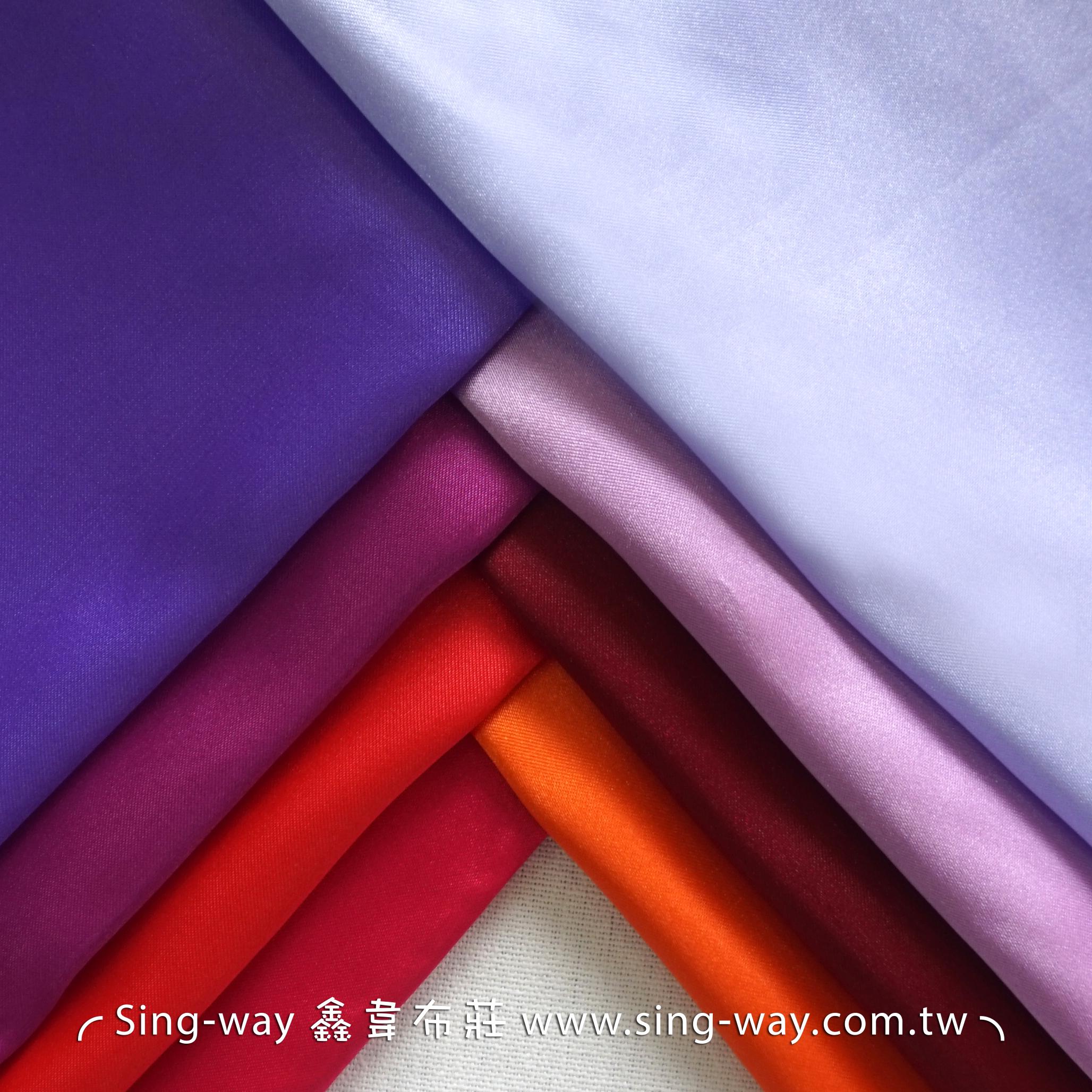 LD290077 紅粉紫色系 素面緞面 沙典 秀士 三角緞 亮面節慶裝飾 桌巾 表演舞台禮服 服裝布料