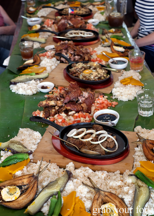 Boodle fight at Sizzling Fillo in Lidcombe Sydney