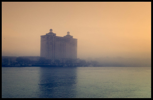 fog georgia river savannahgeorgia shoreline savannah unitedstates us