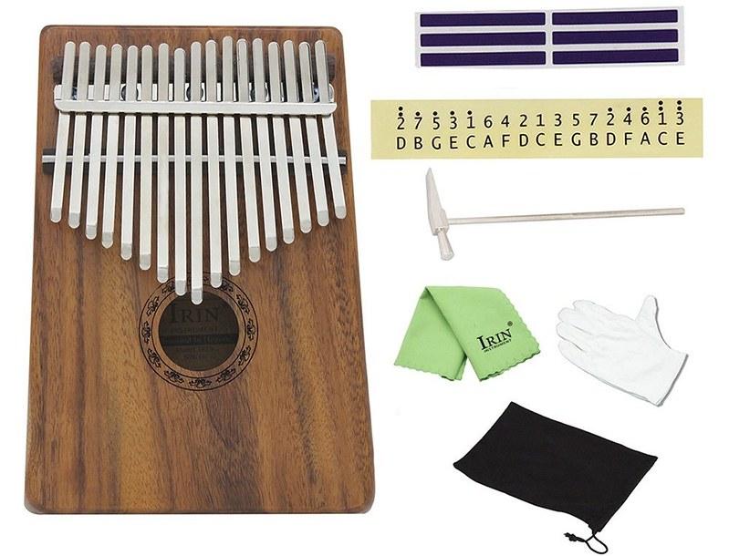 ammoon 17キーカリンバ ポケット親指ピアノ ソリッドアカシア 楽器ギフト 初心者の音楽愛好家用 (1)