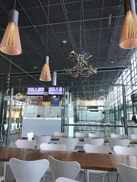 Rovaniemi airport,  tables and chairs