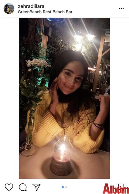 Zehra Dilara Boz, günün yorgunluğunu Green Beach Restoran'da keyifli bir akşamla geçirdi.