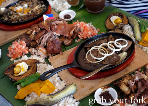 Our boodle fight at Sizzling Fillo in Lidcombe Sydney