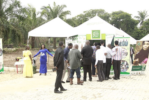 Some visitors at ACGG-Nigeria's exhibition booth (photo credit: ACGG Nigeria)