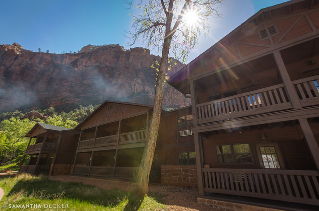 Hangin' at the Zion Lodge