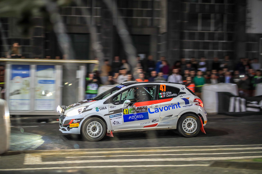 47 VITTA Mattia (ita) OMETTO Pietro (ita), Peugeot 208 R2, action during the 2018 European Rally Championship ERC Azores rally,  from March 22 to 24, at Ponta Delgada Portugal - Photo Jorge Cunha / DPPI