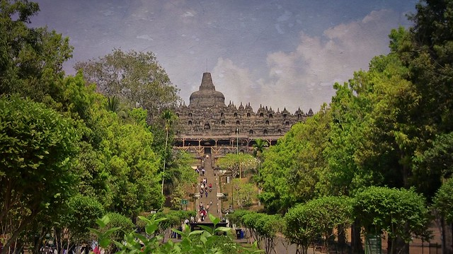 INDONESIEN,Java, Borobudur - buddhistische Tempelanlage, 17233/9737