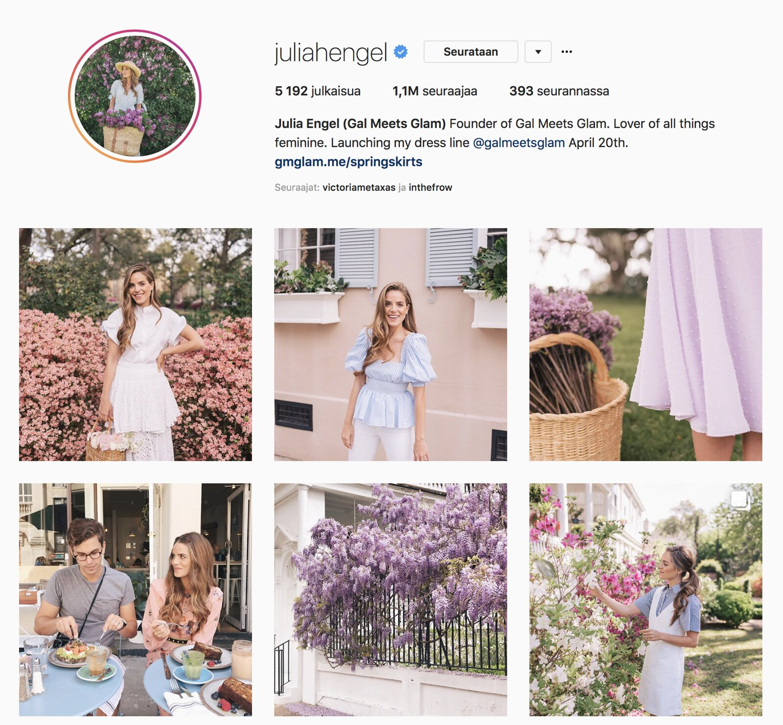 Inspiroivimmat Instagramit Julia Engel