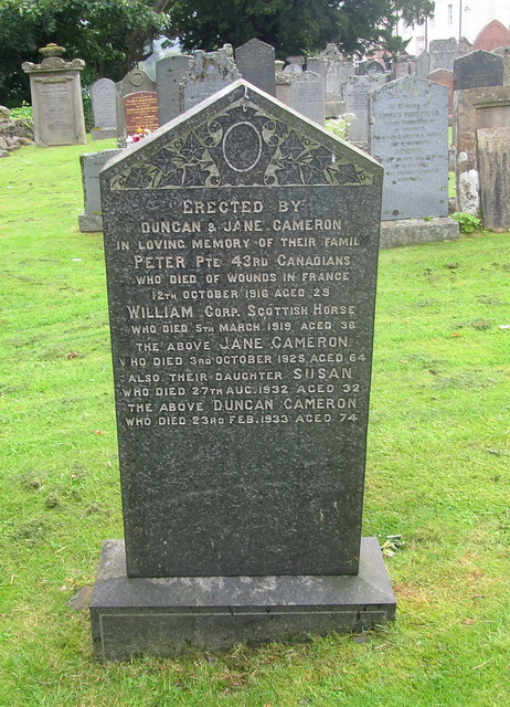 Fortingall Cemetery War Dedication