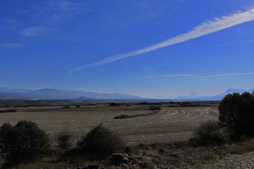 20121001 33 247 Jakobus Pyrenäen Berge Bäume Felder