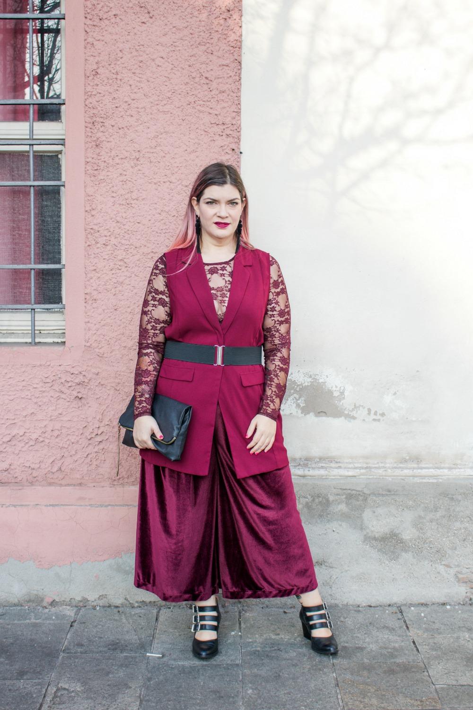 outfit monocolore, monocromatico plus size panta palazzo come le ciliegie (7)