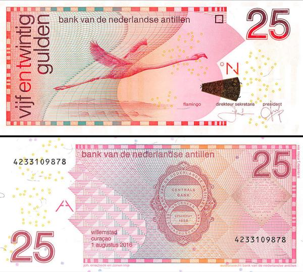 25 Guldenov Holandské Antily 2016, P29h